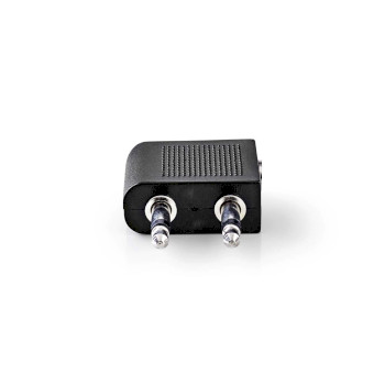 Airplane Audio Adapter | 2x 3.5 mm Male - 3.5 mm Female | 1 Pc | Black