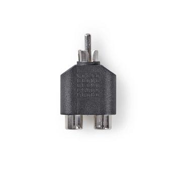 Subwooferadapter | RCA-hanstik | 2 x RCA-hunstik | Sort