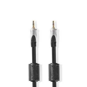 Stereo-Audiokabel | 3,5 mm Male - 3,5 mm Male | 10,0 m | Antraciet