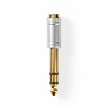 Audio-Adapter | 6,35 mm Male - 3,5 mm Female | Metaal | Zilver
