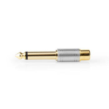 Audio Adapter | 6.35 mm Male to RCA Female | Metal | Silver