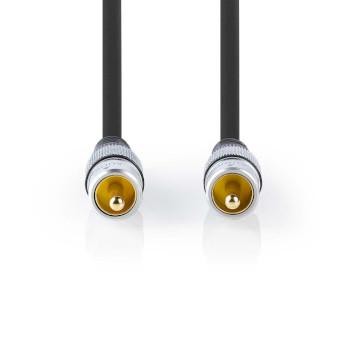 Digital-Audiokabel | Cinch-Stecker - Cinch-Stecker | 5,00 m | Anthrazit