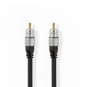 Digital Audio Cable | RCA Male - RCA Male | 5.00 m | Anthracite