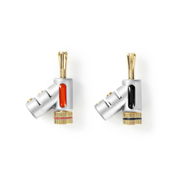 Banana Connector | Male - Female | Metal | Silver