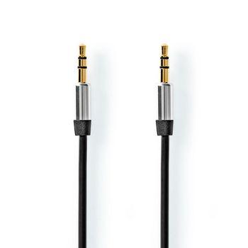 Stereo audiokabel | 2,5 mm naar 3,5 mm | 1,0 | zwart