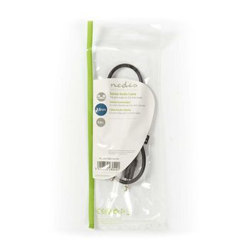 Stereo Audio Cable | 3.5 mm Male - 3.5 mm Male | 0.5 m | Black