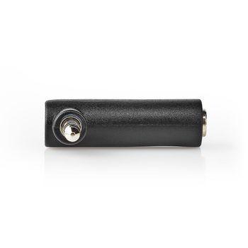 Stereo-Audioadapter   3,5 mm Male - 3,5 mm Female   90° Gehoekt   4-Polig   10 St   Zwart