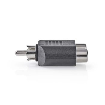 Subwooferadapter | RCA-hanstik – 2 x RCA-hunstik | 10 stk. | Sort