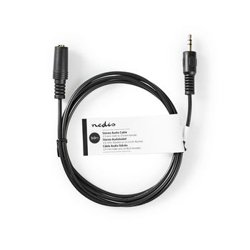 Stereo Audio Cable | 3.5 mm Male | 3.5 mm Female | 3.0 m | Black