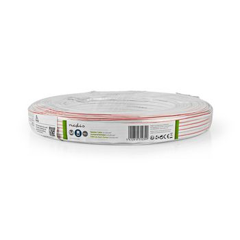 Speaker Cable | 2x 0.35 mm2 | 100 m | Wrap |White