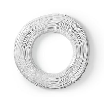 Speaker Cable | 2x 0.50 mm2 | 100 m | Wrap | White