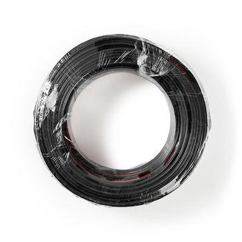 Speaker-Kabel | 2x 1,50 mm2 | 50,0 m | Folieverpakking |Zwart/Rood