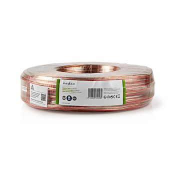 Speaker Cable | 2x 1.50 mm2 | 100 m | Wrap | Transparent