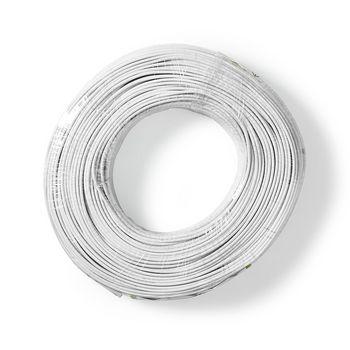 RCA-kabel | 2 x 0.15.0 mm2 | 100 m | Viklet | Hvid