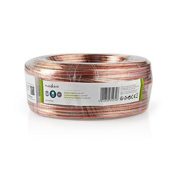 Speaker-Kabel | 2x 2,50 mm2 | 25,0 m | Folieverpakking | Transparant