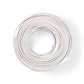 Speaker-Kabel | 2x 2,50 mm2 | 100 m | Folieverpakking | Wit