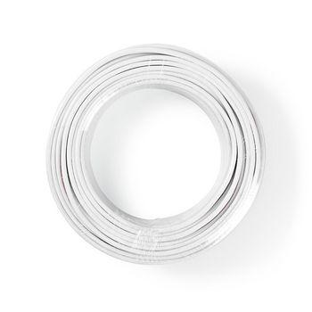 Speaker-Kabel | 2x 2,50 mm2 | 25,0 m | Folieverpakking | Wit