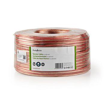 Speaker Cable | 2x 4.00 mm2 | 100 m | Wrap | Transparent