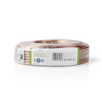 Speaker Cable | 2x 6.00 mm2 | 15.0 m | Wrap | Transparent