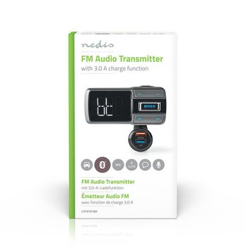 Car FM Transmitter | Bluetooth® | Bass Boost | MicroSD Card Slot | Hands-Free Calling | Voice Control | 3.0 A / 2.4 A