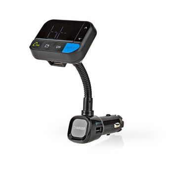 Car FM Transmitter | Bluetooth® | Bass Boost | MicroSD Card Slot | Hands-Free Calling | Voice Control | 2x USB