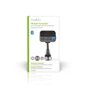 FM-sändare för bil | Bluetooth® | Bass Boost | MicroSD-kortplats | Handsfree-samtal | Röststyrning | 2x USB