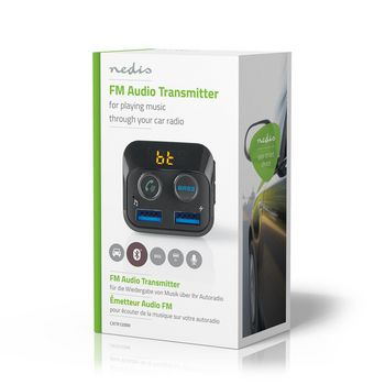 Car FM Transmitter | Bluetooth® | Bass Boost| MicroSD Card Slot | Hands-Free Calling | 2x USB