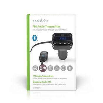 FM-zender voor in de auto | Bluetooth® | Pro-microfoon | Ruisonderdrukking | MicroSD-kaartopening | Handsfree bellen | Spraakbediening | 2x USB