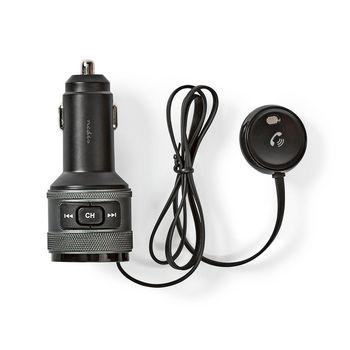 Autós FM-adókészülék | Bluetooth® | Profi Mikrofon | Zajkioltás | Kihangosított Hívás | Hangvezérlés | 3,0 A / 1,0 A