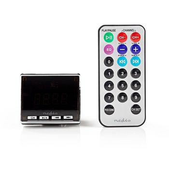 Autós FM-adókészülék | 3,5 mm-es bemenet | microSD-kártyanyílás