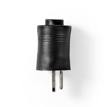 Lautsprechersteckverbinder | Lautsprecherstecker | Vernickelt | 25 Stück | Schwarz