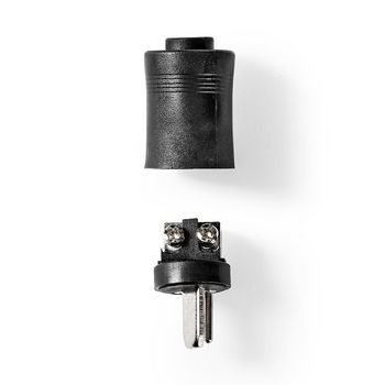 Speakerconnector | Speaker Male | Vernikkeld | 25 Stuks | Zwart