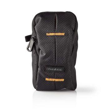 Camera Bag | 100 x 60 x 30 mm | 1 Inside pocket | Black / Orange