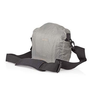 Camera Shoulder Bag | 152 x 146 x 65 mm | 2 Inside pockets | Black / Orange