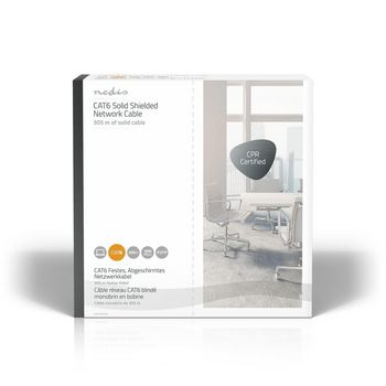 CAT6 F/UTP Network Cable | Solid - 305 m | Grey