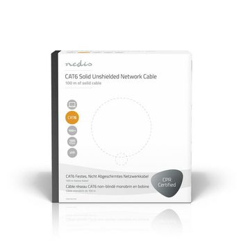 CAT6 UTP Network Cable | Solid - 100 m | Grey