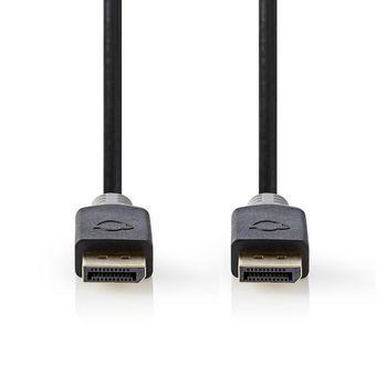 DisplayPort 1.4 Cable | DisplayPort Male - DisplayPort Male | 2.00 m | Anthracite
