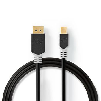 Mini-DisplayPort - DisplayPort-Kabel | 1.4 | Mini-DisplayPort Male - DisplayPort Male | 2,0 m | Antraciet