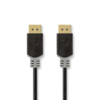 DisplayPort 1.4-Kabel | DisplayPort Male - DisplayPort Male | 2,00 m | Antraciet