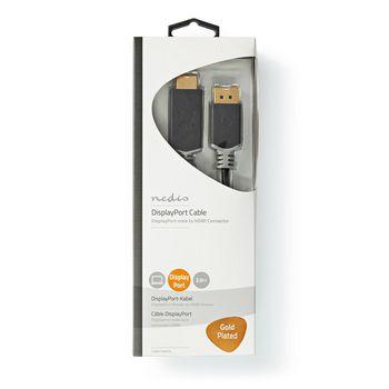 DisplayPort - HDMI™-Kabel | 1.4 | DisplayPort Male - HDMI™ Male | 2,0 m | Antraciet