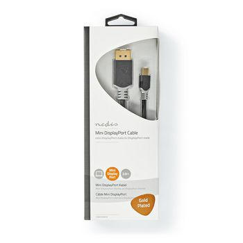 Mini DisplayPort - DisplayPort Cable | 1.4 | Mini DisplayPort Male - DisplayPort Male | 2.0 m | Anthracite
