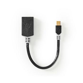 Mini DisplayPort - DisplayPort -Kaapeli | Mini DisplayPort (Uros) - DisplayPort (Naaras) | 0,2 m | Antrasiitti