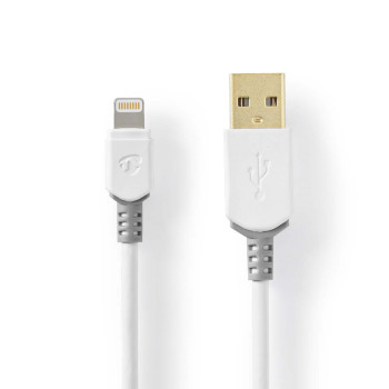 Sync and Charge Cable | Apple Lightning 8-pin Male - USB A Male | 1.0 m | White