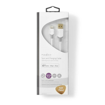 Sync and Charge Cable | Apple Lightning 8-pin Male - USB A Male | 2.0 m | White