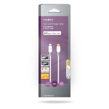 Apple Lightning Cable | Apple Lightning 8-Pin Male - USB-C | 2.00 m | White