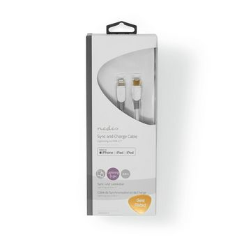 Apple Lightning Cable   Apple Lightning 8-Pin Male - USB-C   3.00 m   White