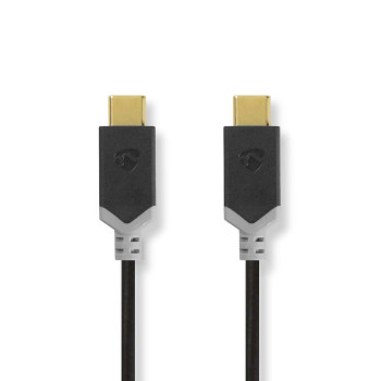 USB 2.0 Cable | Type-C Male - Type-C Male | 1.0 m | Anthracite