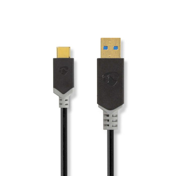 USB 3.1 Cable | Type-C Male - A Male | 1.0 m | Anthracite