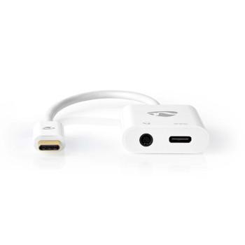 USB-C Adapter | USB-C Male - 3.5 mm Female + USB-C Female | 0.15 m | White