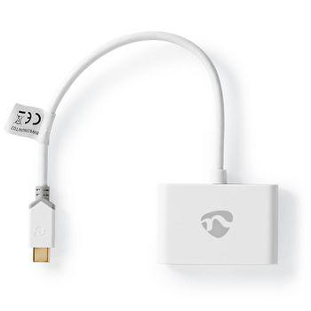 Adaptador USB-C 3.0 | USB-C Macho - 2 USB-A Macho | 0,2 m